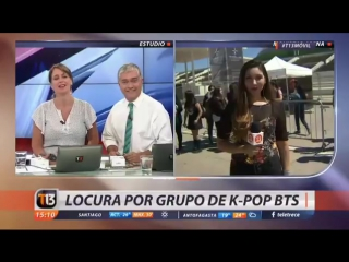 `press` t13 chilean news for the wings tour in santiago, chile.