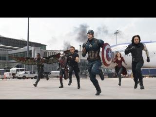 Первый Мститель: Противостояние (2016) Неудачные дубли + видео со съмок HD