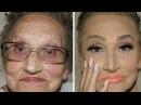 80 летняя бабушка попросила внучку сделать ей макияж и проснулась знаменитой