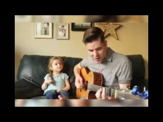 Dad and daughter sing 'You've got a friend in me' from Toy Story