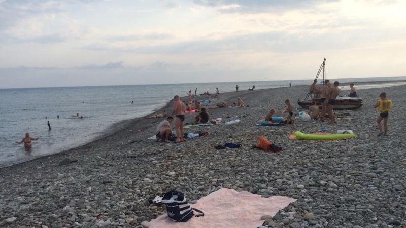 Пляж пос Гечрипш Абхазия