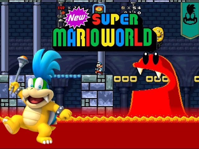New Super Mario World Part 8 - O Castelo de Larry Koopa!