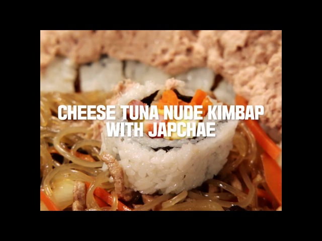 COOKAT Cheese Tuna Nude Kimbap With Japchae