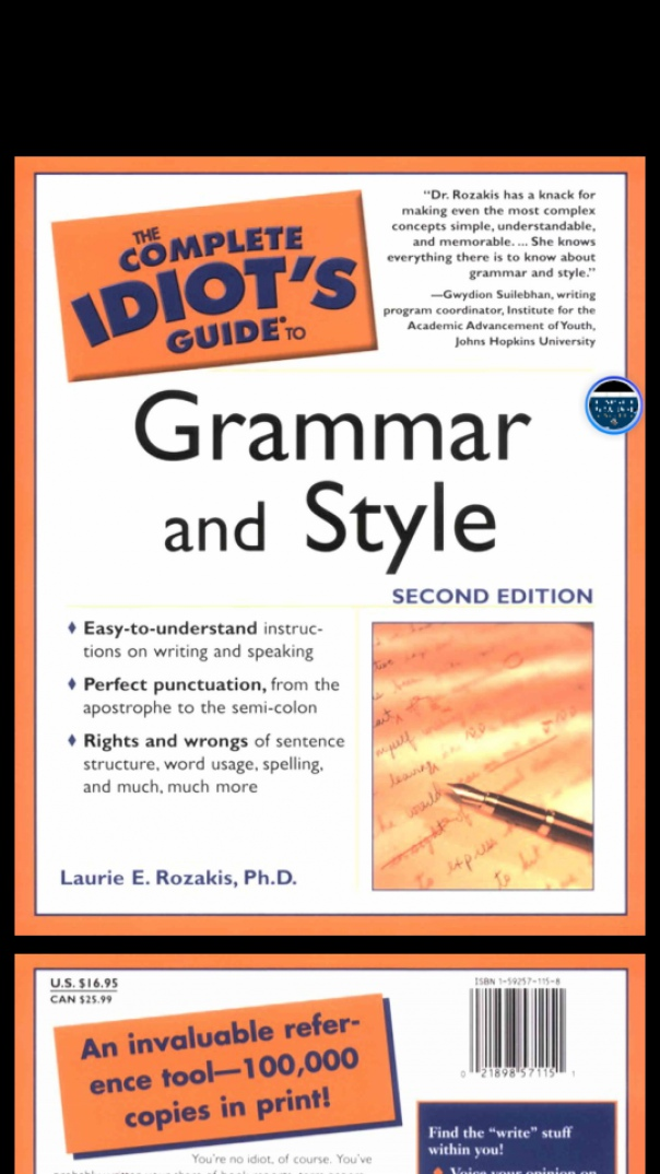 the complete idiot's guide to grammar & style 2nd ed(2003)