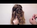 Свадебная причёска на длинные волосы .Греческая коса.Демонстрация урока дистанци