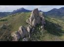 Кара-Даг, Коктебель. Вид на потухший вулкан с высоты птичьего полета.