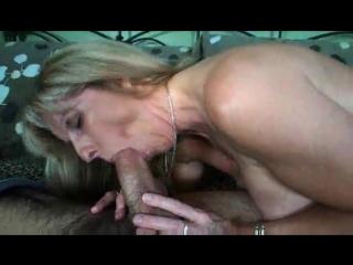 Mature gal sucks and strips before sex mature porn