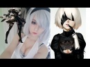 NieR Automata 2B Cosplay - makeup tutorial