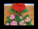 Роза из бисера с резными лепестками Кустик розочек Часть 1 5 Rose Bead carved petals