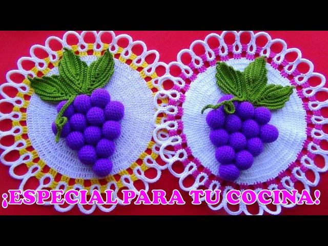 Tapete o Carpeta a crochet FÁCIL DE TEJER para base de adornos de cocina