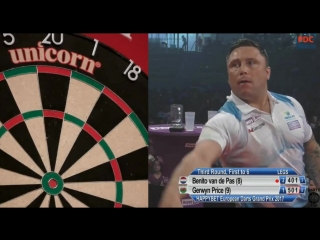 Benito van de Pas vs Gerwyn Price (European Darts Grand Prix 2017 / Round 3)
