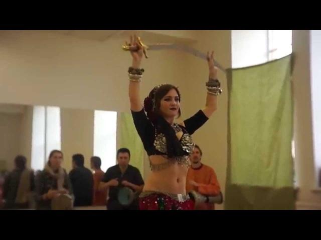 Sword dance Zhanna Lys @ Barabuka's Birthday 28 09 2014