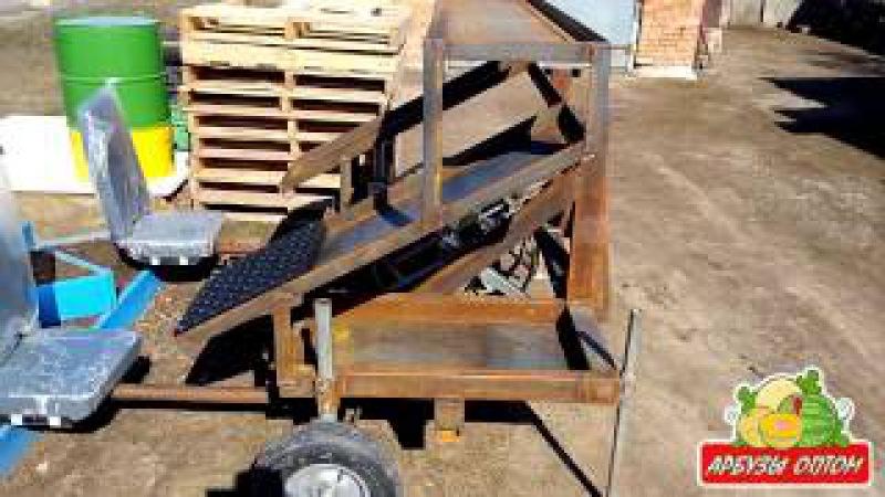 Рассадопосадочная машина для арбузной рассады Rain Flo Water Wheel Transplanter