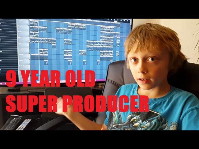 9YO Kid Makes a Dope Beat