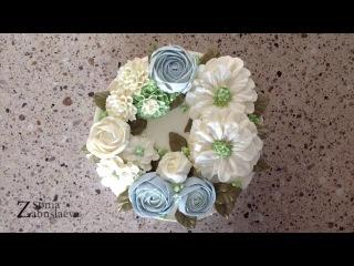 Торт c кремовыми цветами! Пуансетиии не только!  Buttercream flowers