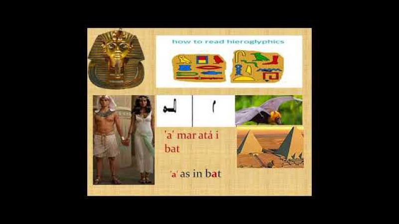 Foghlaim Hieroglyph Ancient Egyptian Aibítir Cuid 1 Irish