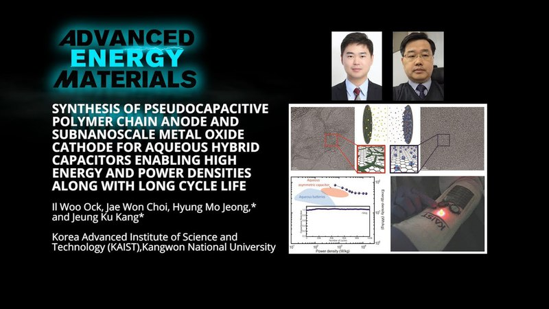 Polymer Chain Anode and Metal Oxide Cathode for Aqueous Hybrid Capacitors