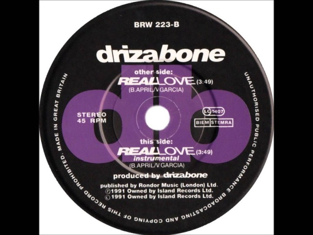 Driza Bone - Real Love (Dj S Bootleg Extended Sax Re-Mix)