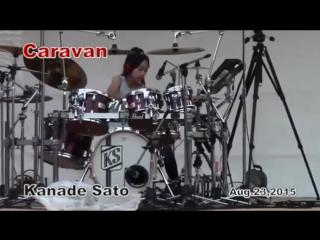12 year old girl drummer plays like buddy rich!~kanade sato amazing!