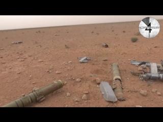 Останки вертолета Ка-52, разбившегося на днях на востоке Сирии.