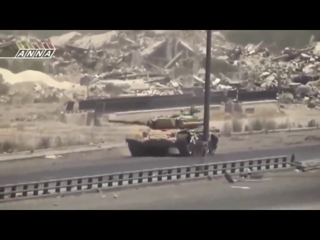 Грамотный танковый бой на Т 72 в Сирии .
