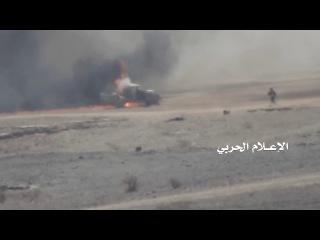 +18 Йемен. Хуситы подорвали машину с пехотой противника (2018)