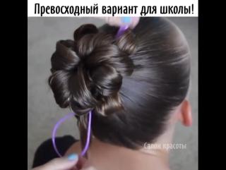 С такой причёской твоя дочурка будет всегда номер 1!Сохранишь идею