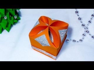 Коробочка. Оригами. Мастер-класс. DIY Gift box - NO templates!!!!! ANY SIZE ! SUPER easy. Christmas box