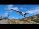 WINDY! Approaches Into St Barts (dangerous landing!) 4K