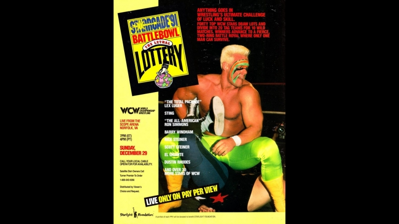 29.12.1991 WCW Starrcade 1991 - BattleBowlThe Lethal Lottery HD