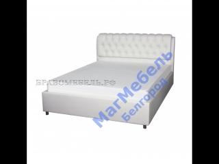 Кровать с подъёмным механизмом Барселона (кожзам беж) БРАВО