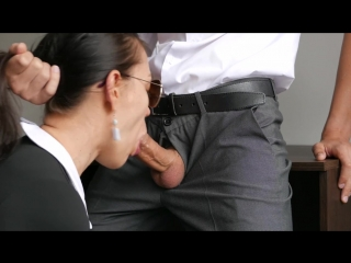 Horny Young Secretary Fucks In Anal, Pussy  Mouth With Her Office Boss
