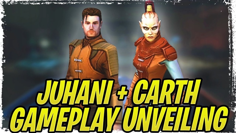 Juhani Carth Onasi Gameplay Unveiling Darth Malak and Revan Incoming Galaxy of Heroes