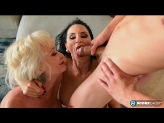 Rita Daniels and Leah L'Amour: dream three-way  [HD 1080, Anal, Big Tits, Blowjob, Facial, Granny, Mature, MILF]