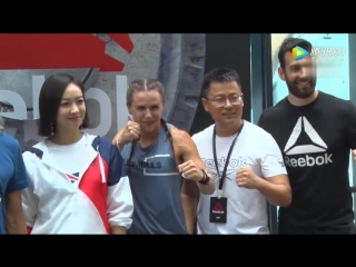 Reebok Flagship Store Opening in Shanghai Media Interview (180708)