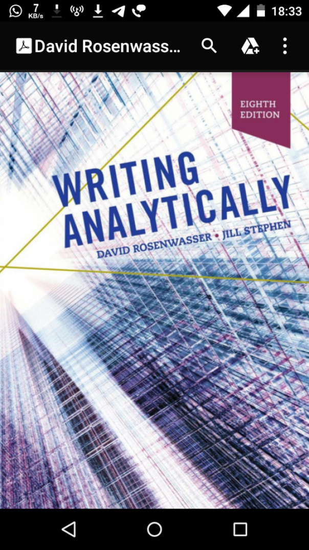 David Rosenwasser, Jill Stephen - Writing Analytically-Cengage Learning (2018)