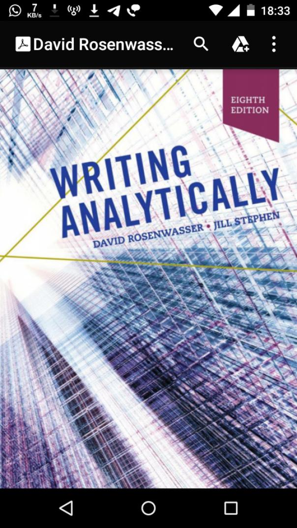 David Rosenwasser, Jill Stephen - Writing Analytically-Cengage Learning (2018)