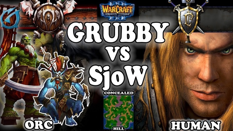Grubby | Warcraft 3 TFT | 1.30 | ORC v HU on Concealed Hill - Grubby vs SjoW