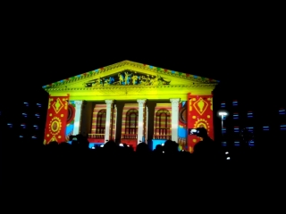 3D-шоу на здании Драматического театра г. Мариуполь