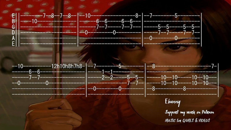 Yann Tiersen La Valse d'Amelie Full Acoustic Guitar Tab by Ebunny Fingerstyle How to Play