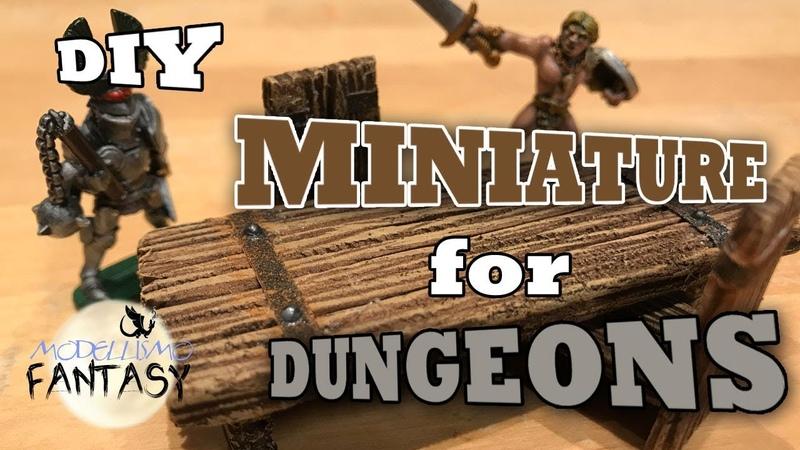 Miniature per dungeon tavoli e sedie