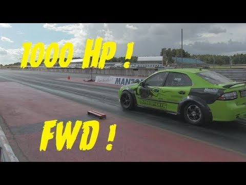 Wild Saab V6 Turbo at EDPS Mantorp 58