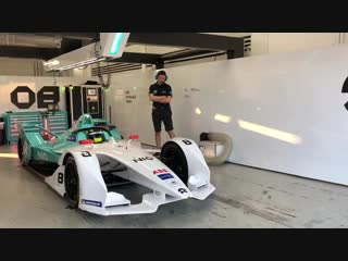 Looking good. our new fiaformulae 004 gen2 car heading out onto the track with tomdillmann behind the wheel in valencia circuitv