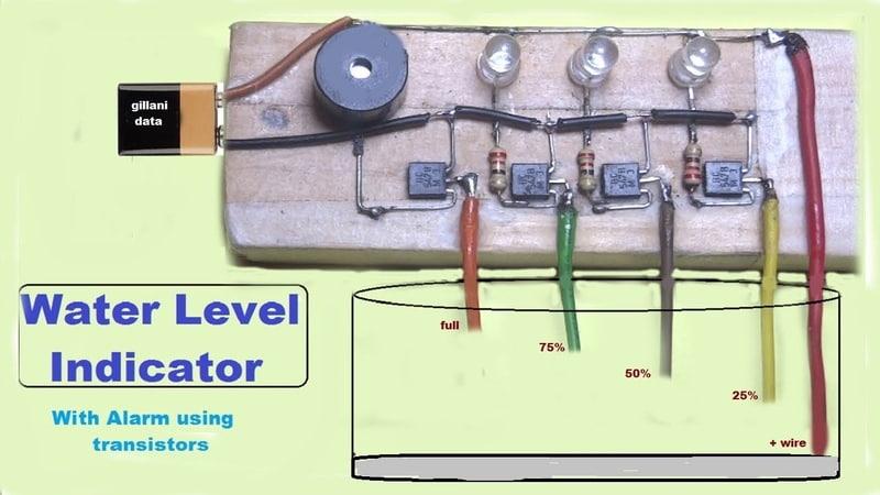 Water Level indicator with alaram