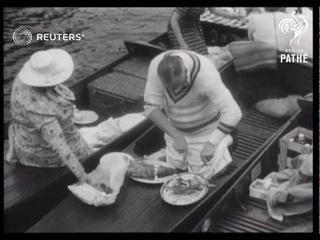 Henley regatta on the Thames (1938)