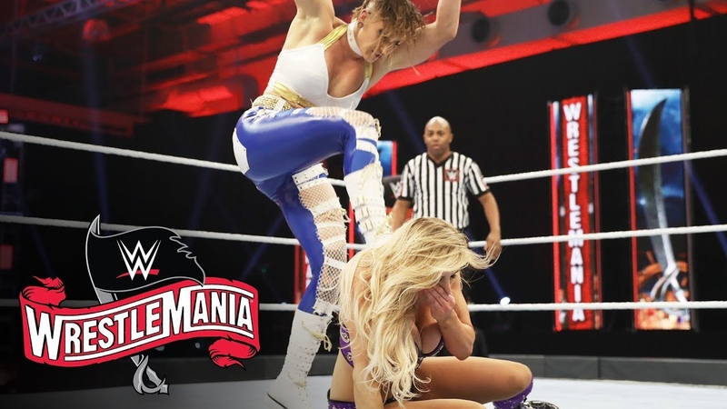 Rhea drives Charlotte into the canvas WrestleMania 36 WWE Network Exclusive