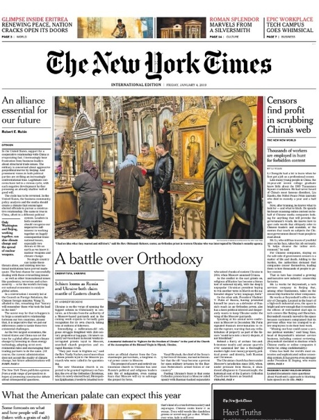 International New York Times - 4 January 2019