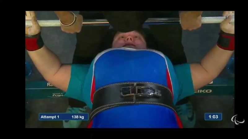 🥉Вера Муратова women's 86 kg 138 ER 143 ER 148 WR 2019 World Parapowerlifting championship Nur Sultan