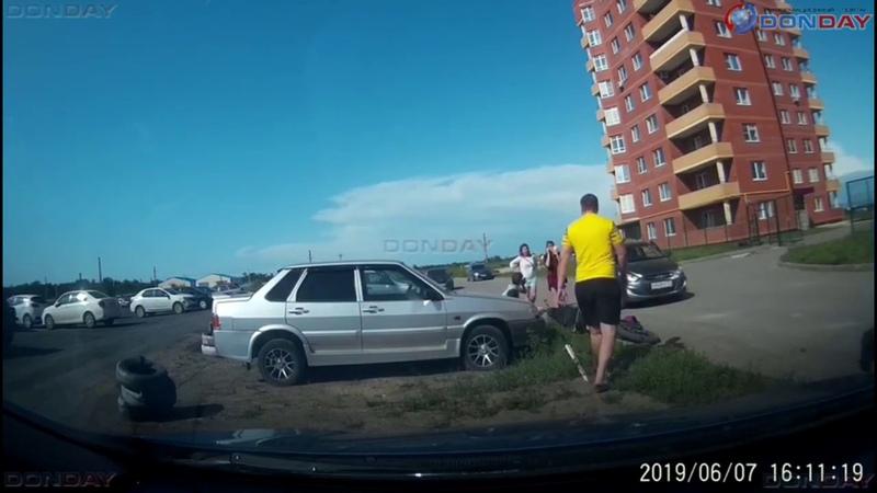 Donday Видео момента ДТП с мотоциклом на Деволана в Новочеркасске