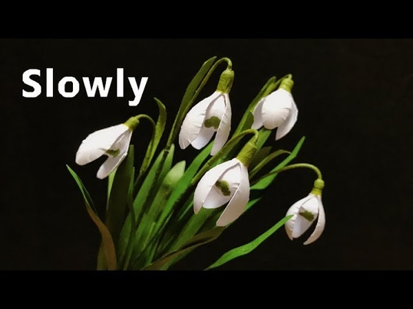 ABC TV | How To Make Snowdrop Paper Flower ( Slowly )- Craft Tutorial